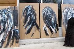 4 portraits 120x70cm on wood